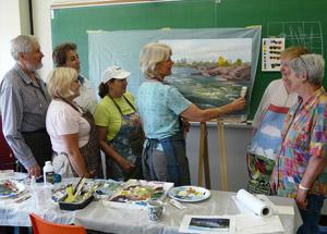 An acrylic landscape workshop