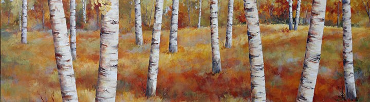 Birches In Fall II