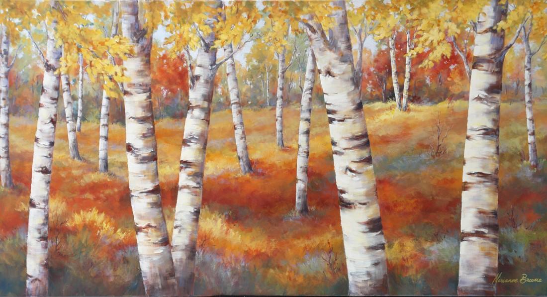 Birches in Fall III 30x60