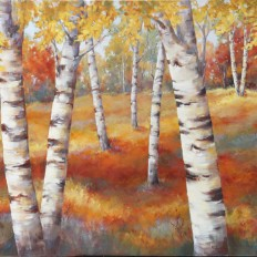 Birches in Fall III