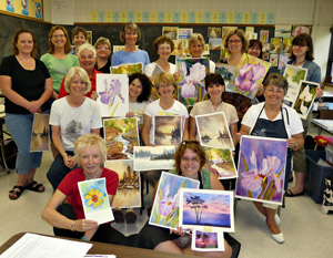 Watercolours at Haliburton