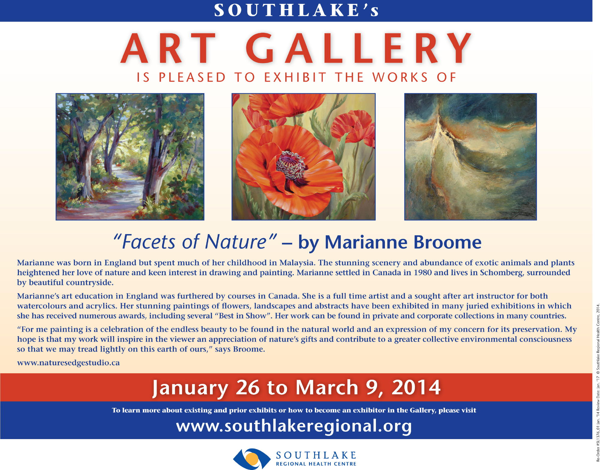 Facets of Nature Show flier
