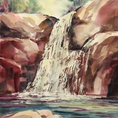 Sun at the Falls